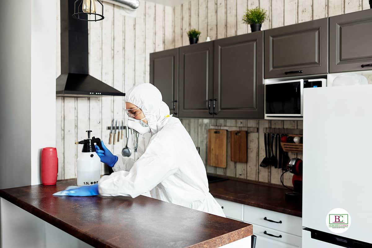 Nettoyage et désinfection de toute la maison pour éloigner le Covid-19